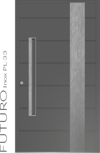 Haustür Futuro Inox PL-33