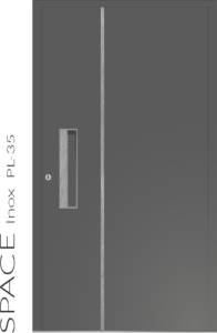 Haustür Space Inox PL-35